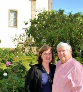Linda and Skip in the Mateus Garden