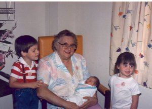 My mom with her three favorite grandchildren